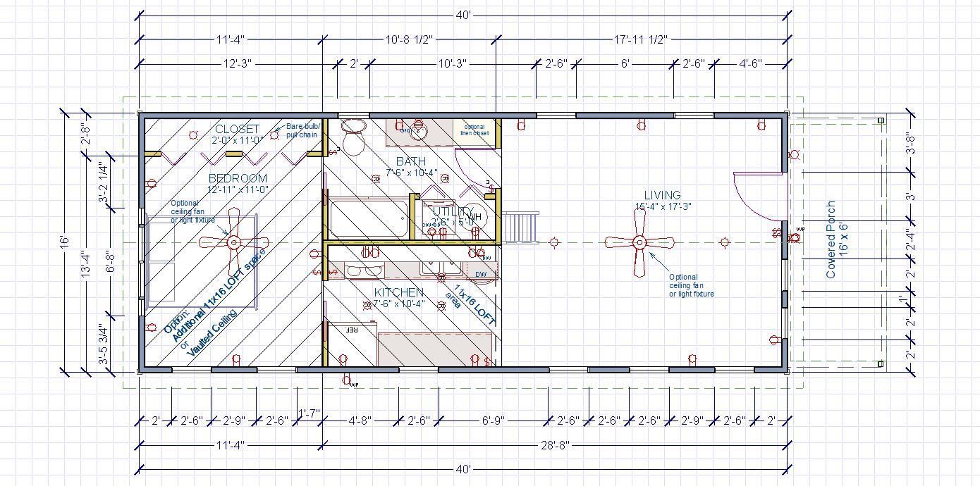 Narrow Entry Floor Plan