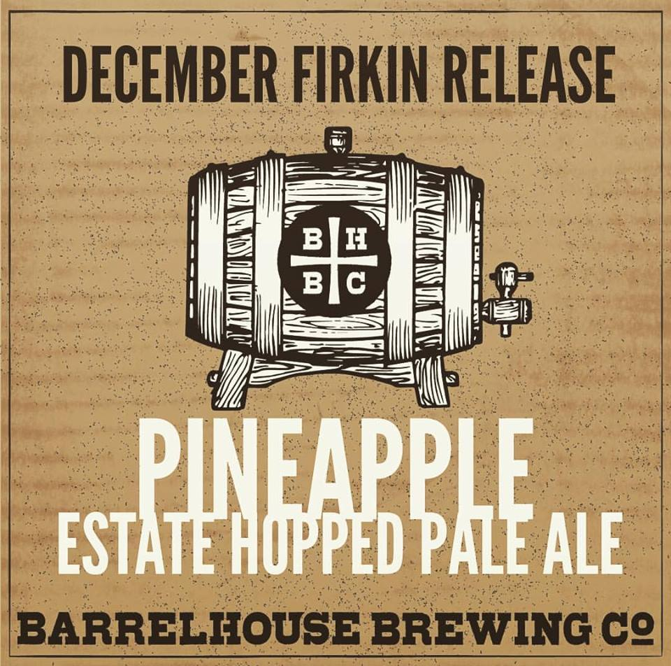 This month our Firkin wizard, Ryan Fagen, infused our incredibly limited Estate Hopped Pale Ale with fresh juicy pineapples. Boom. Mind-blowing! Get some at 4pm this Thursday at our SLO Speakeasy and all-day Saturday at our Brewery & Beer Gardens in Paso Robles. Cheers!