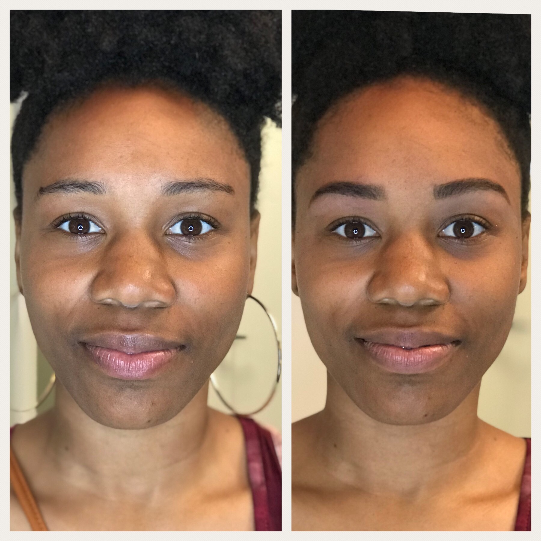 HENNA BROW SHAPING - BEFORE & AFTER