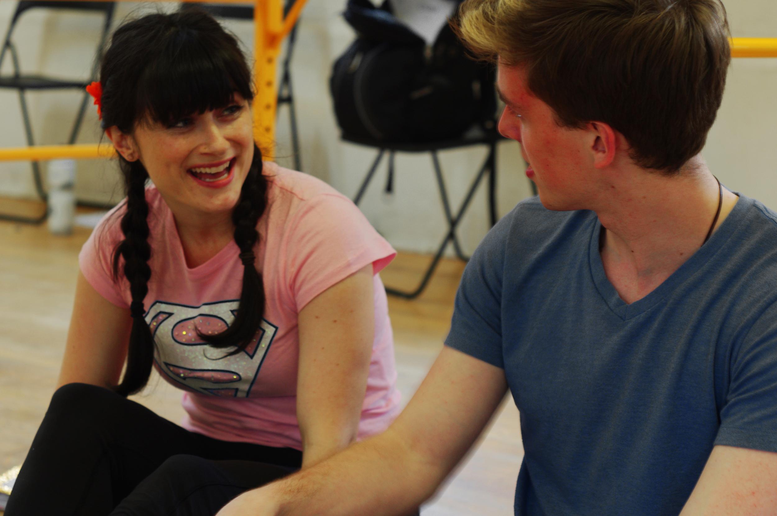 Jessica Dorcey as Laura Lewis and Adam Keller as Mark Kenton
