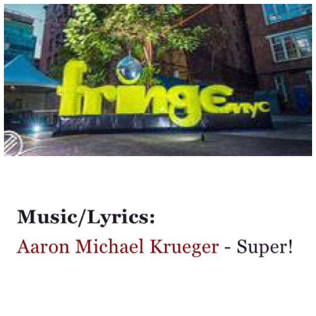"The writer of #Super! @aaronmkrueger won The @fringenyc Overall Excellence Award last night for his ""Music/Lyrics"". Thank you to all the staff in the festival and to everyone who came out to see Super! at the @sohoplayhouse. It was a truly incredible experience!  Check out all the winners at @officialbroadwayworld:www.broadwayworld.com/article/FringeNYC-Announces-2016-Overall-Excellence-Award-Winners-20160829  #Fringe #NYC #FringeNYC #AwardWinner #Composer #Writer #Musical #Theatre #NewMusical #Broadway #OffBroadway"