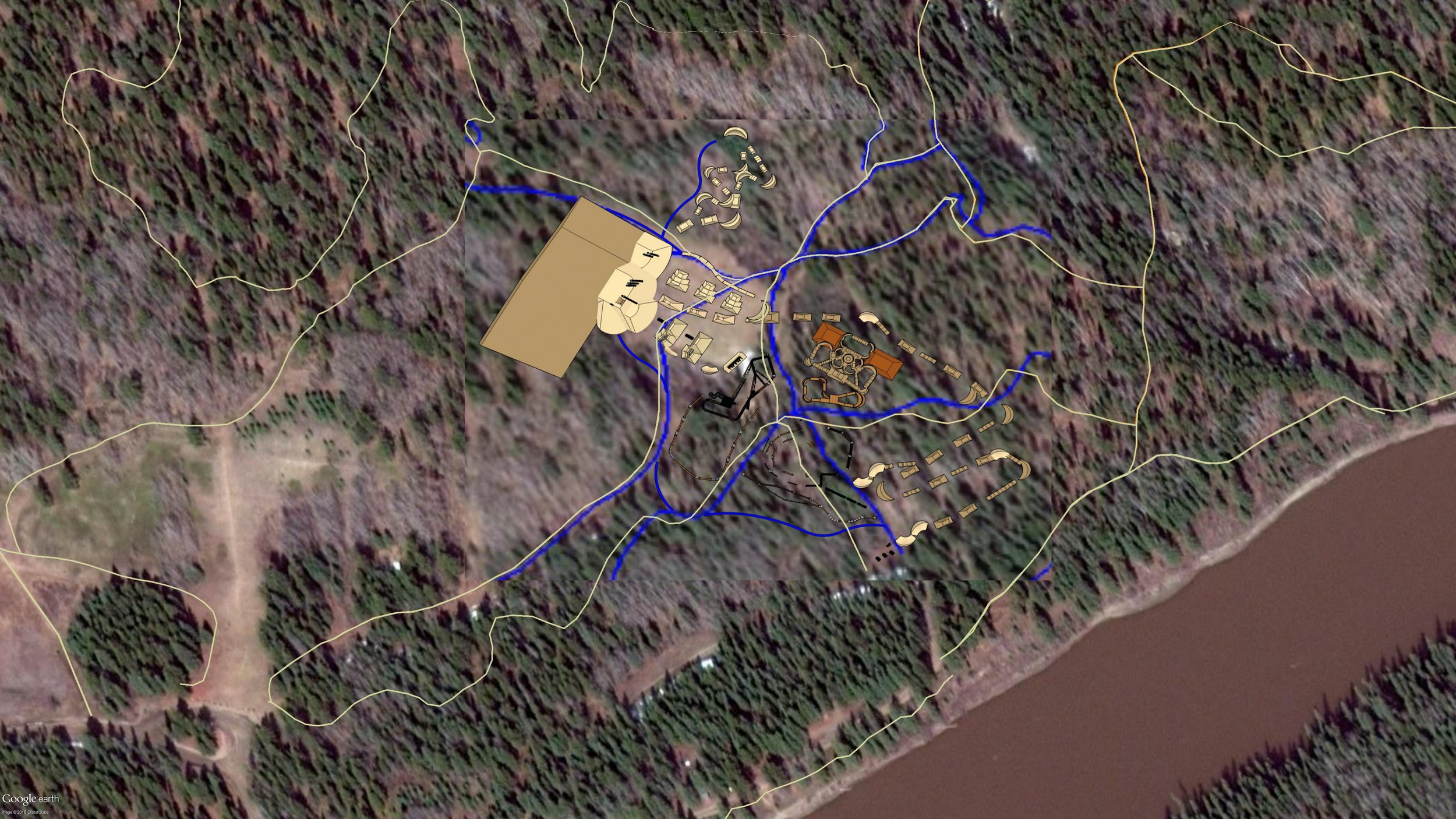 The Edson Bike Skills Park is 8 acres in size. Willmore Park is 379 acres in size (not including the newer trails added on Crown Land west of Willmore). * 2016 design shown.