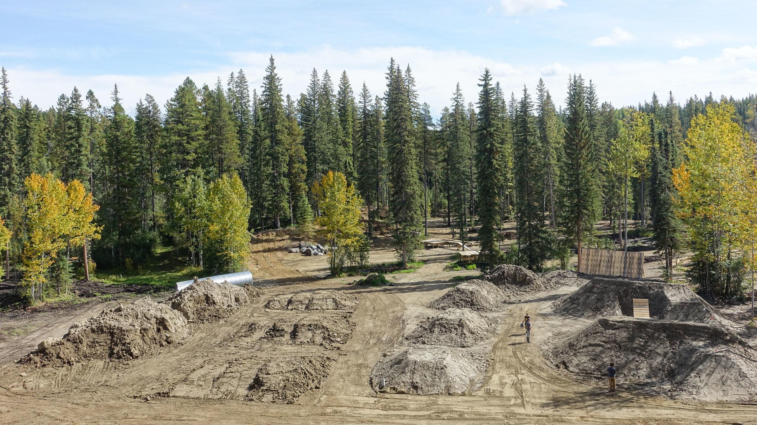 Jump area partially built. Fall 2018.
