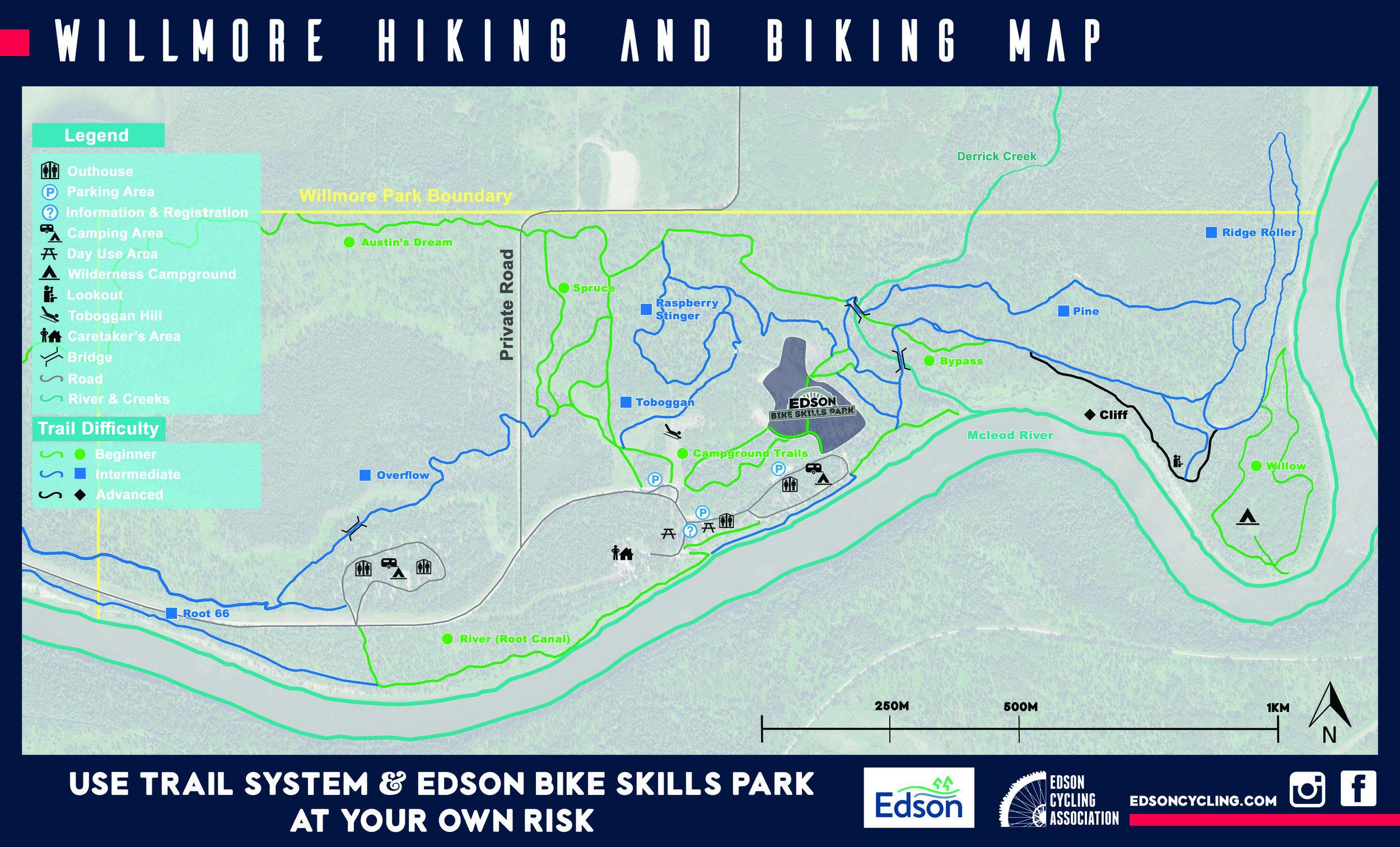 Willmore trail map.  Click to enlarge.