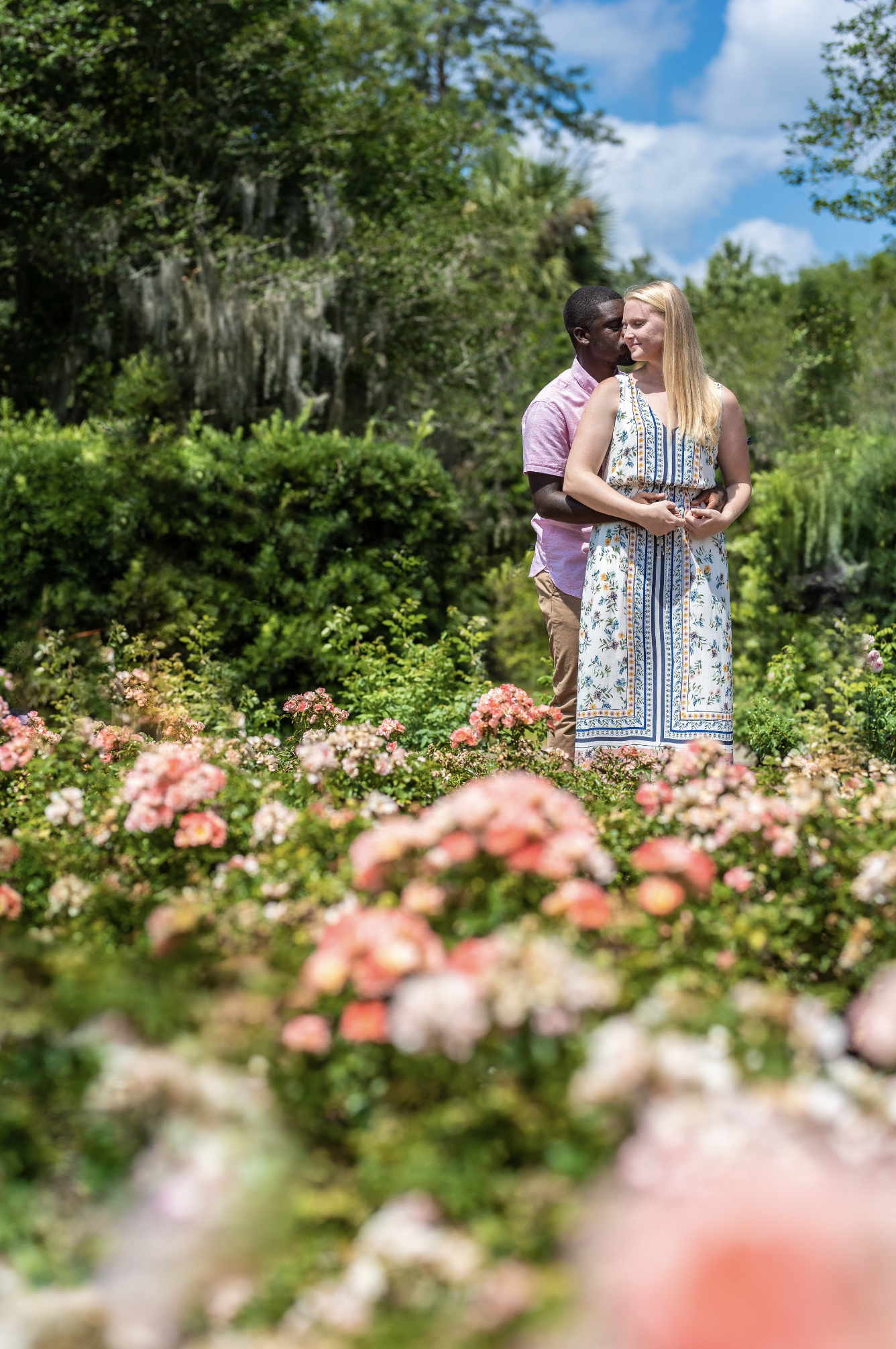 Leu Gardens Engagement Photo