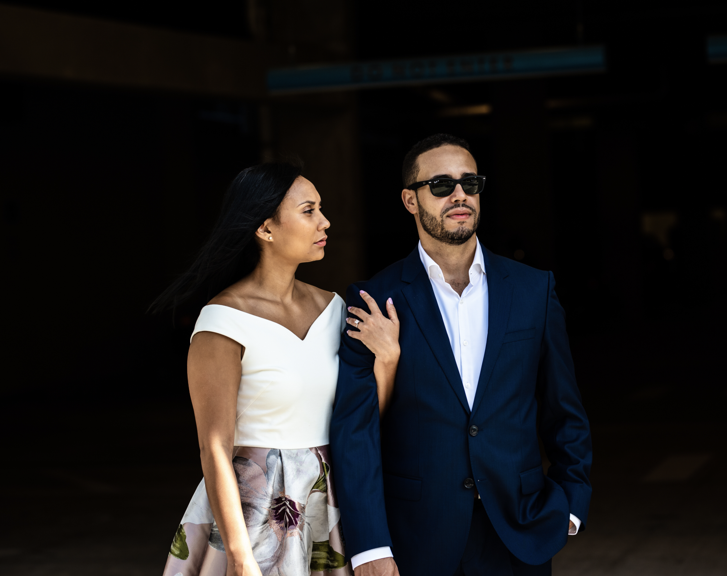 Downtown Orlando Engagement Photo