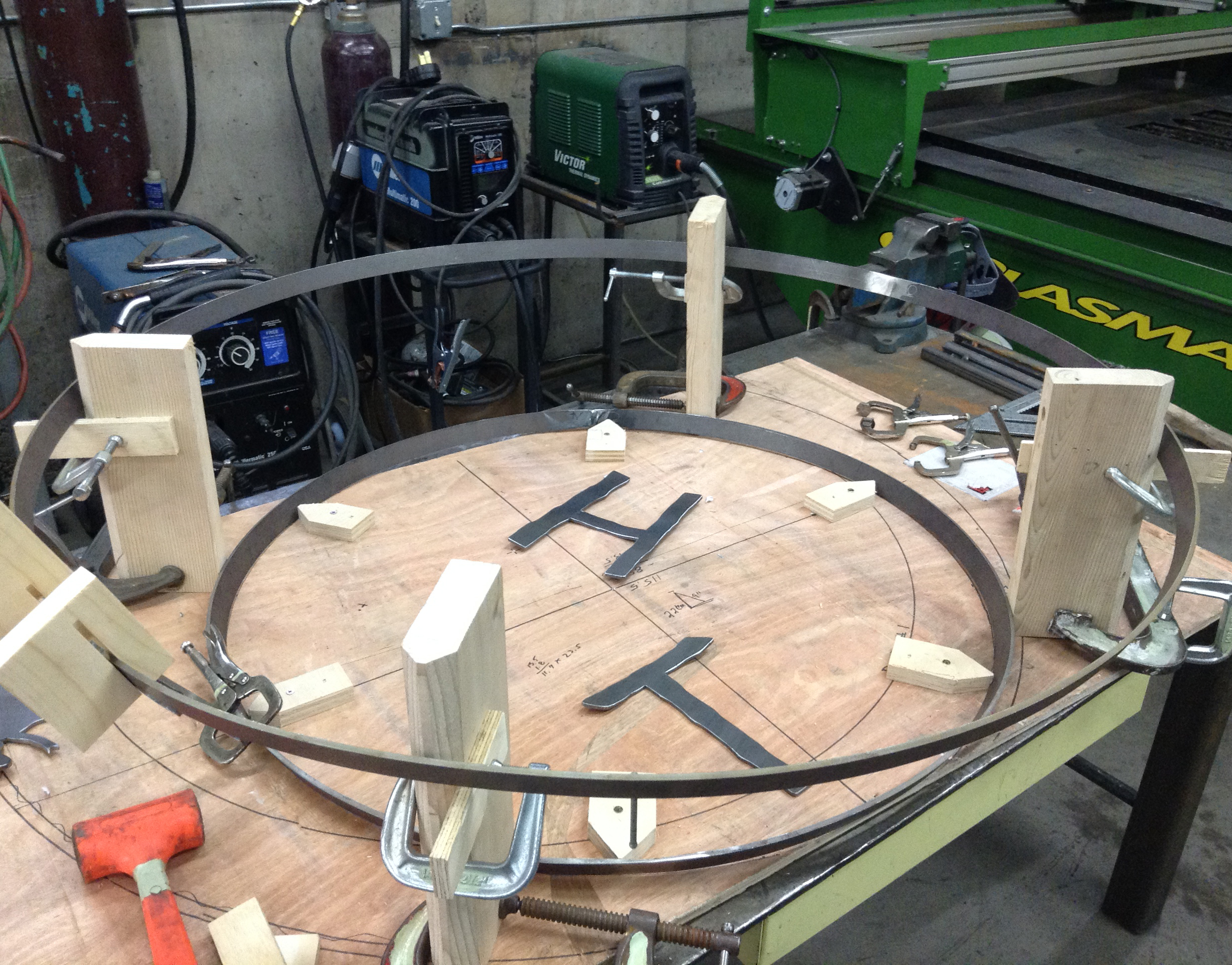 Setting up a jig for the base ring