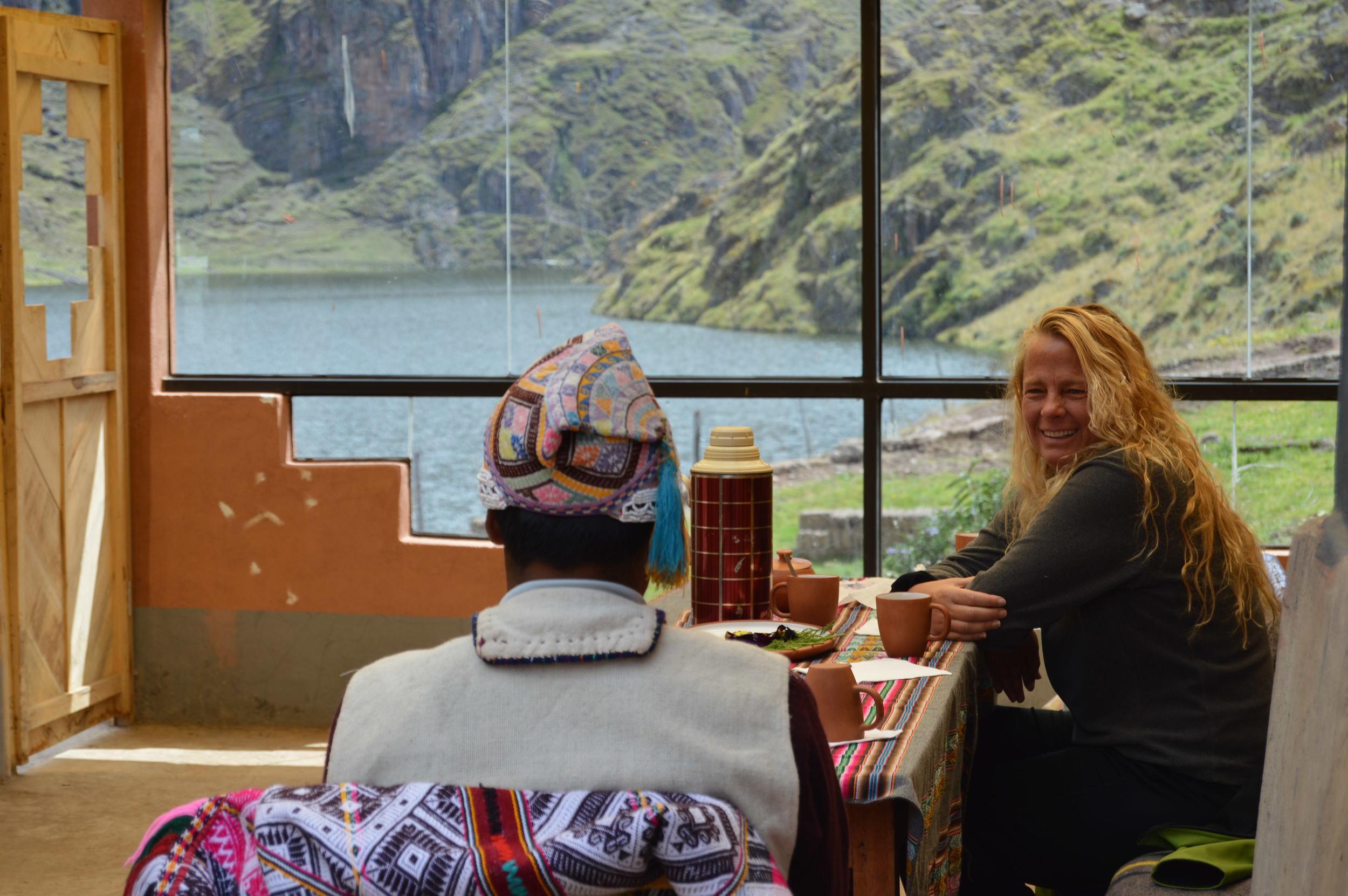 Muña tea at Paru Paru Community near Cusco, Peru