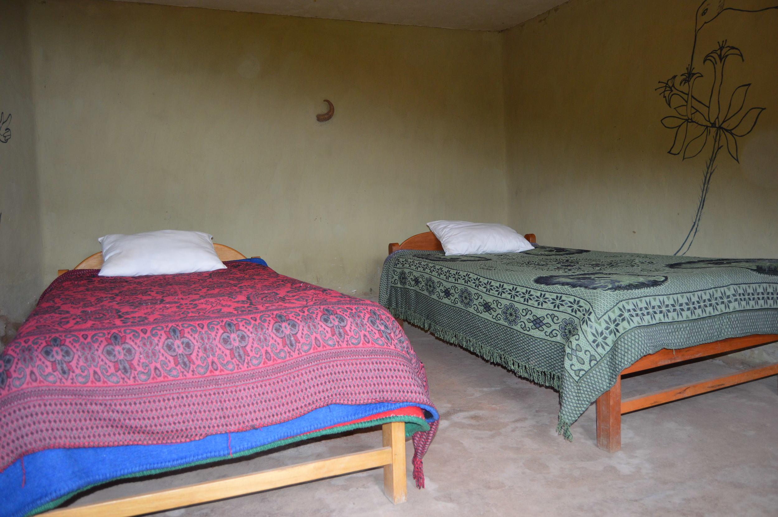 Homestay room at Paru Paru Community near Cusco, Peru