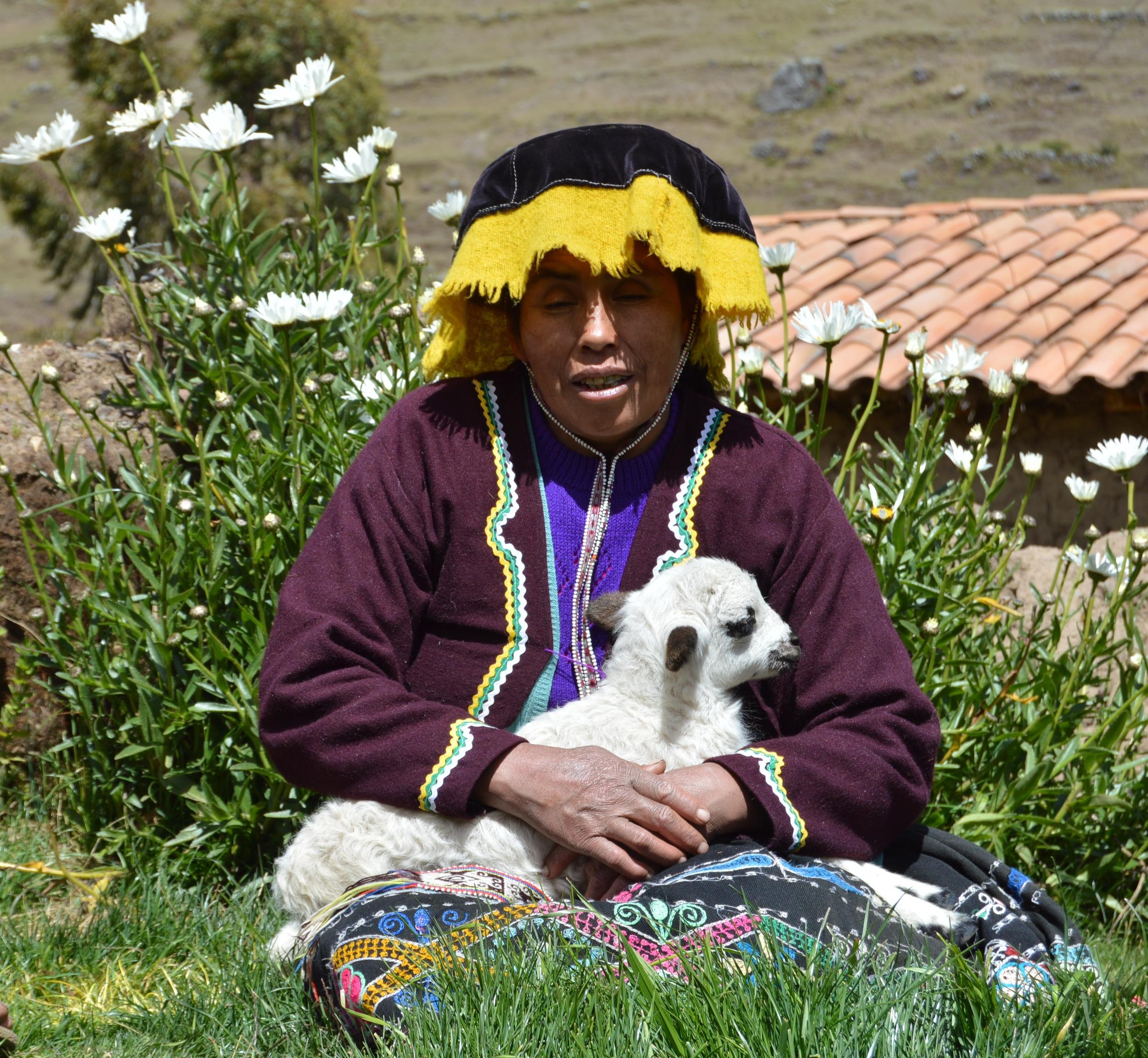 Local community member of Paru Paru near Cusco, Peru