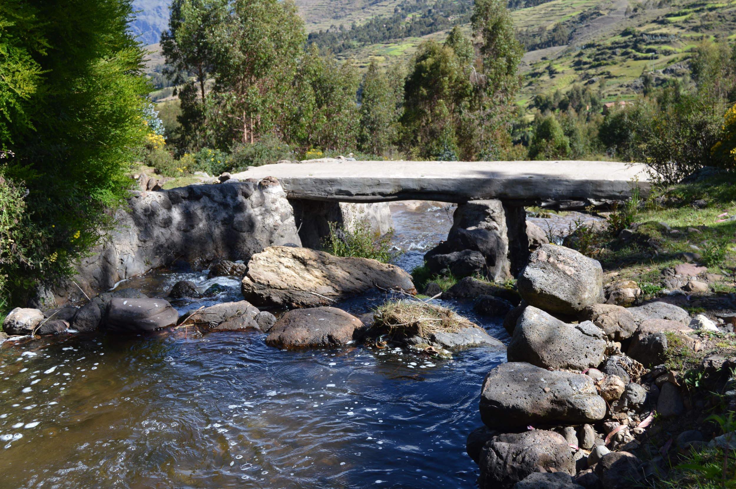 Stream passing through Paru Paru Community near Cusco, Peru