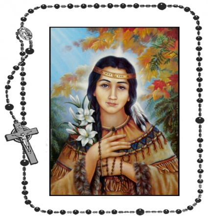 Blessed Beads Rosaries Kateri Tekakwitha