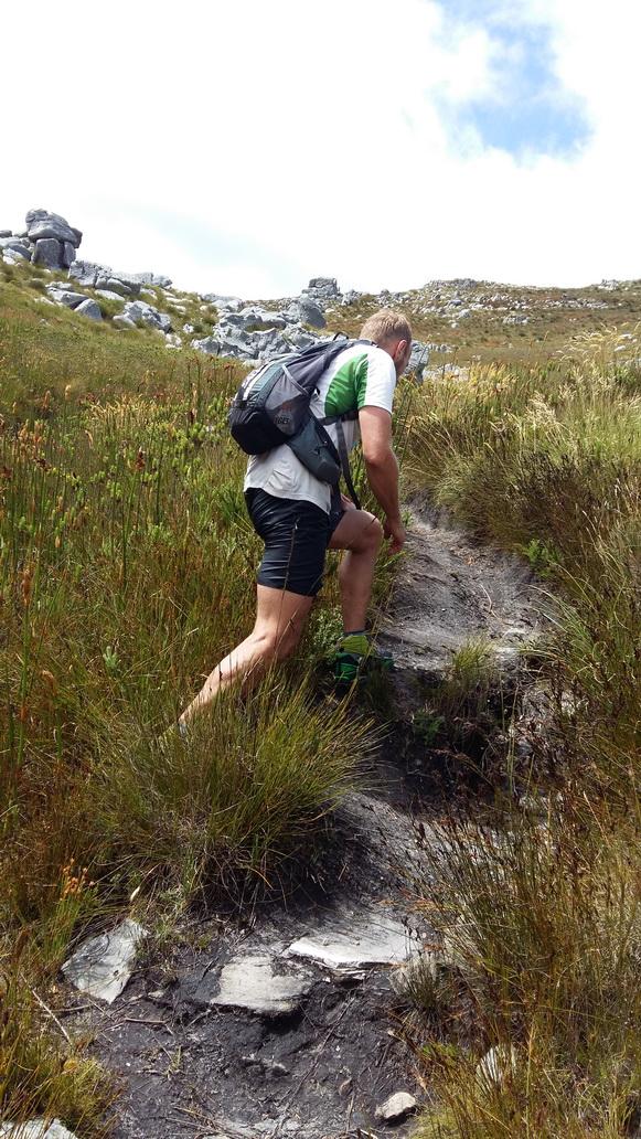 Trying to run towards Swartboskloof  (  Photo Andrew Milne)