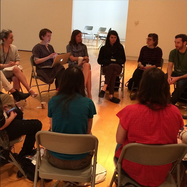 """Collective Bio"" workshop, moderated by Lenka Clayton"