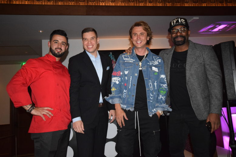 Chef Carlos Sanz, Operating Partner Edward Everett, Food God Jonathan Cheban and DJ Irie