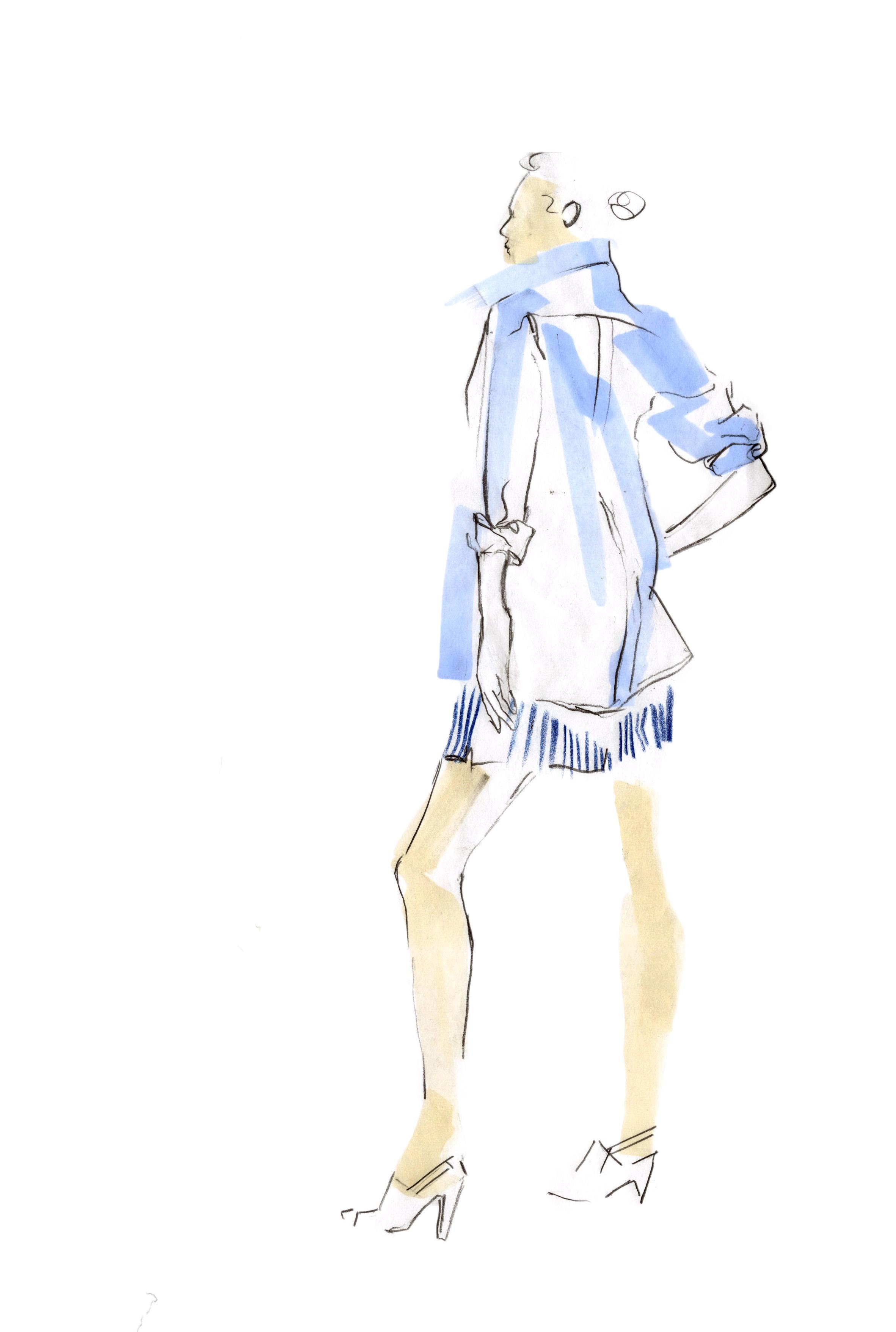 Cotton Oxford & Stripe Shorts