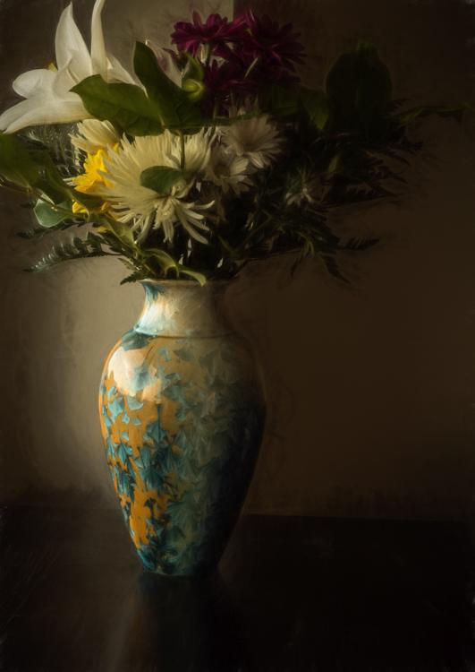 Vase Full View PhaseOne IQ 180 120mm 3 sec f18 Photo Painting 75%