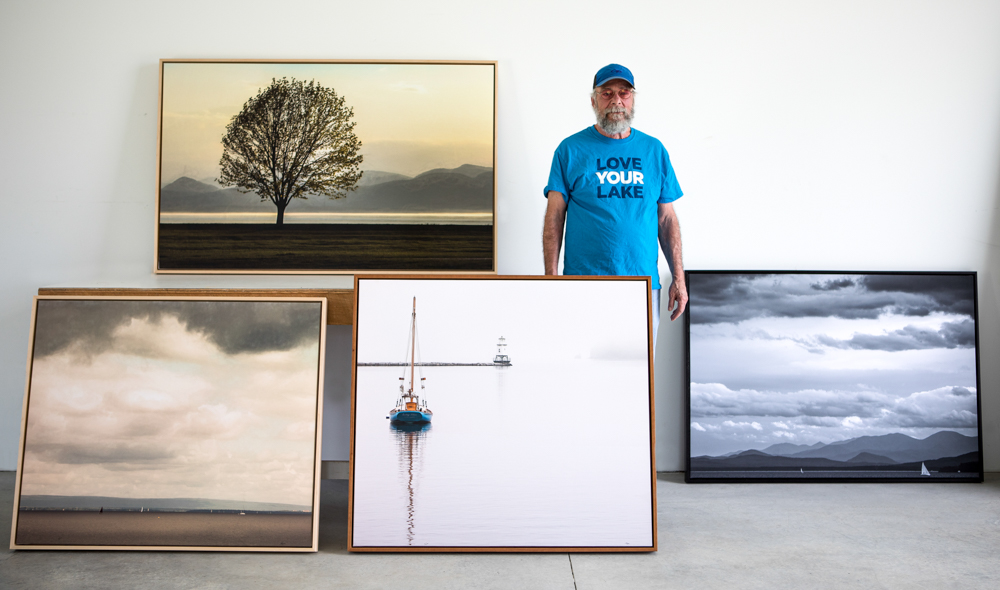 Mike and four of Lake Champlain series images, printed and framed large