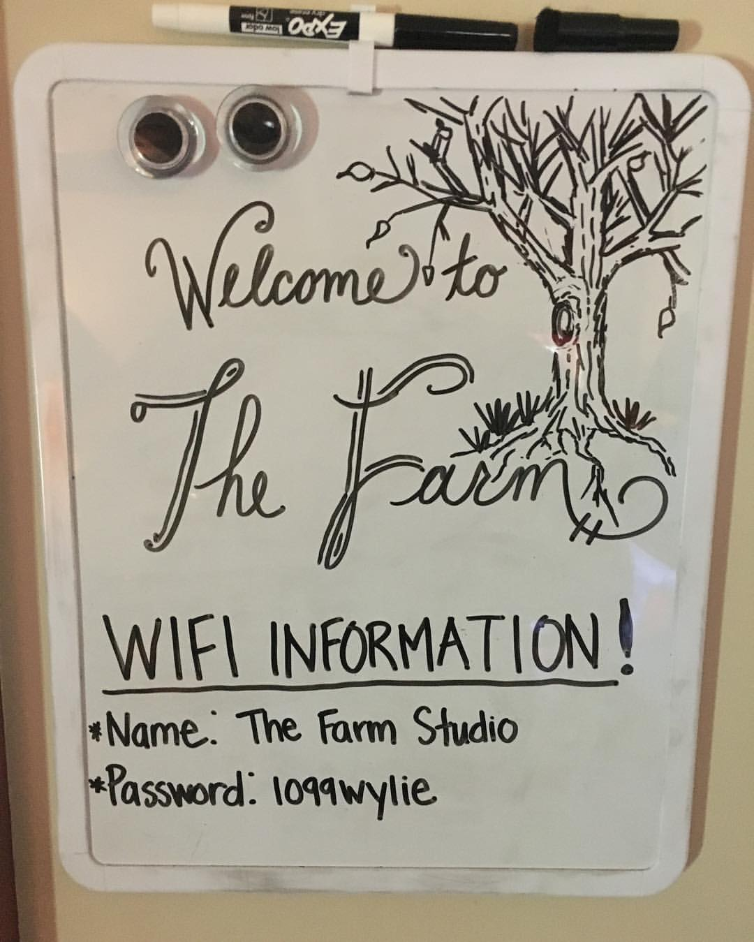 Woke up yesterday in Brick, NJ. Played a wedding last night in Amherst, MA. Woke up today in West Chester, PA. Getting ready to host @blasteroidband for the next two days - shoutout to @theannachiu for this decorative wifi information 🤘😎🤘