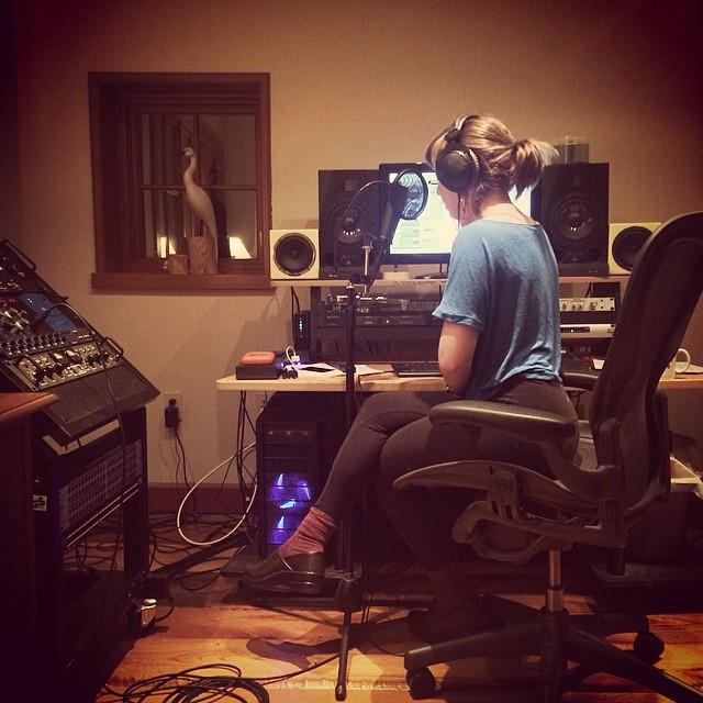 Late night vocal arranging   #thefarmstudio