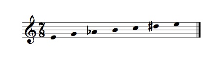 One of my 'modes' for ACC 5, alternating semi-tones and minor 3rds.