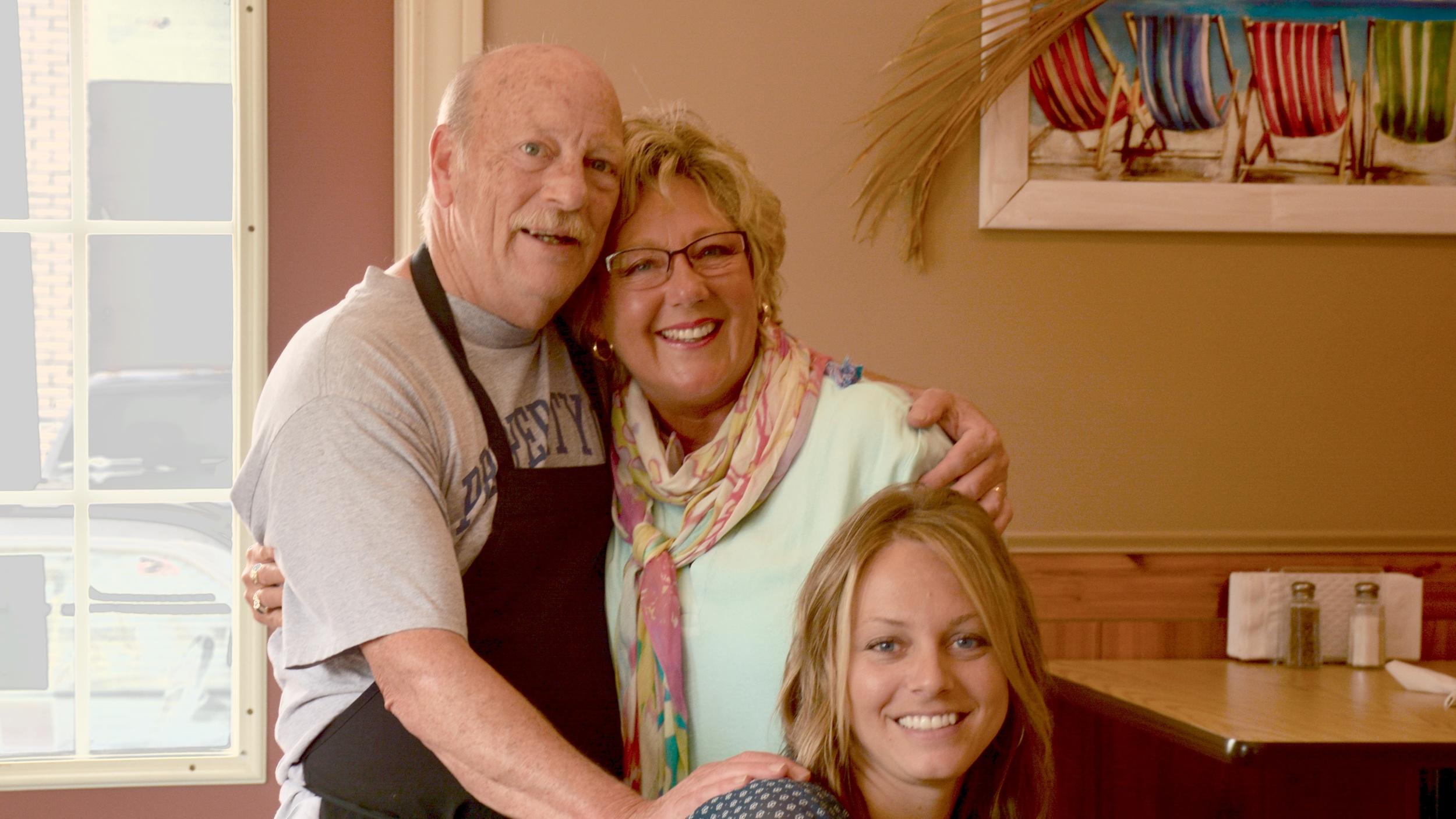 Owner, Bob Latour, along with Tina and Liz.
