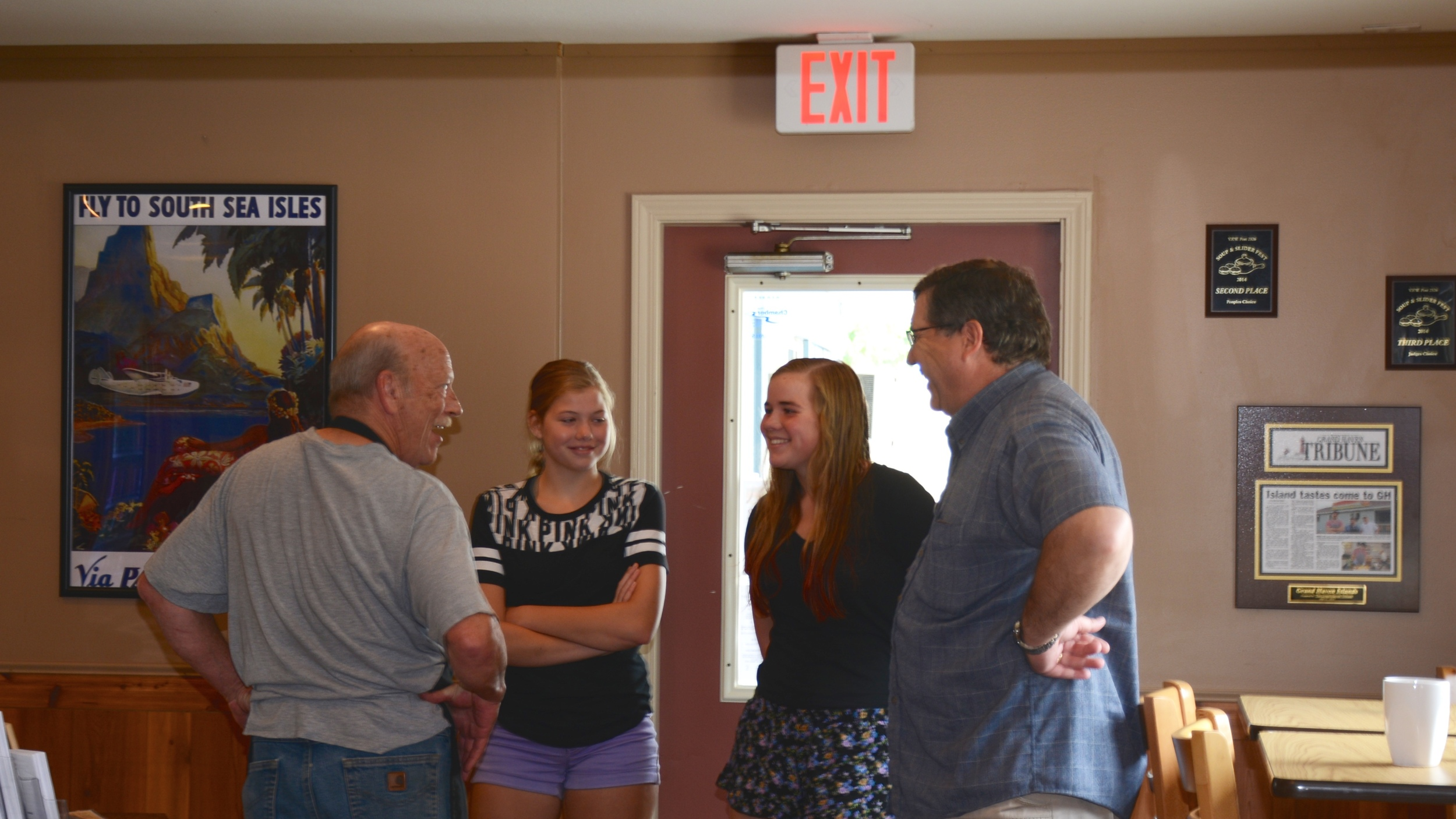 Dr. Thornley, along with his girls and owner, Bob Latour.
