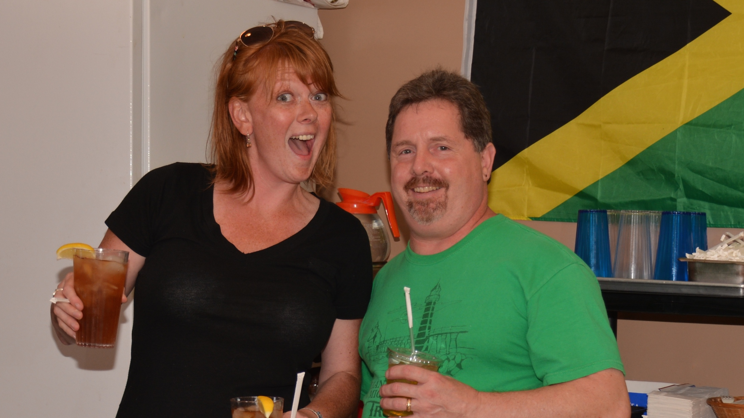 Great smiles and fun times with Amber and Mark - Thank you for entertaining us!