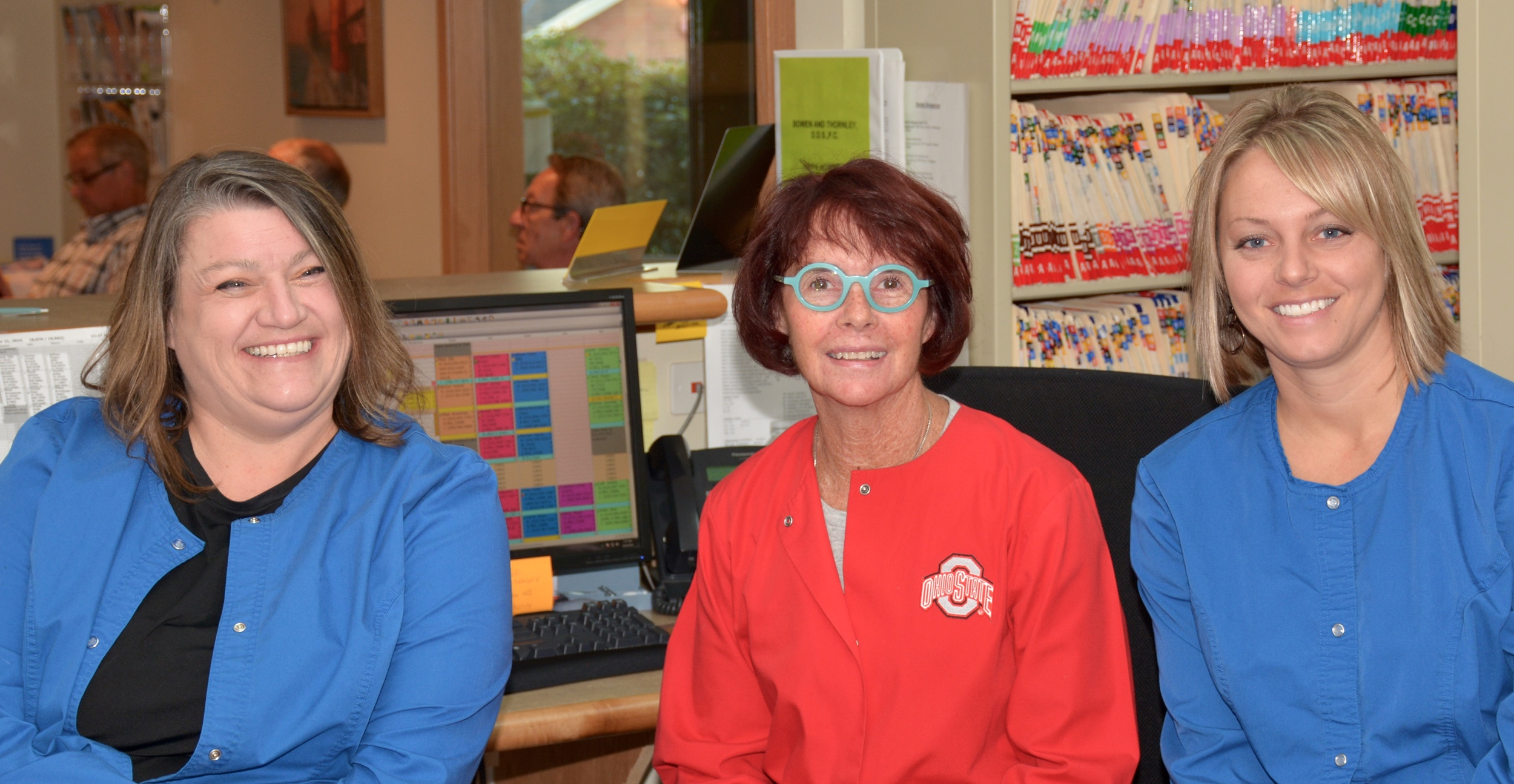 When you call into our office, you might speak with one of these lovely ladies;Beth, Jill or Liz.