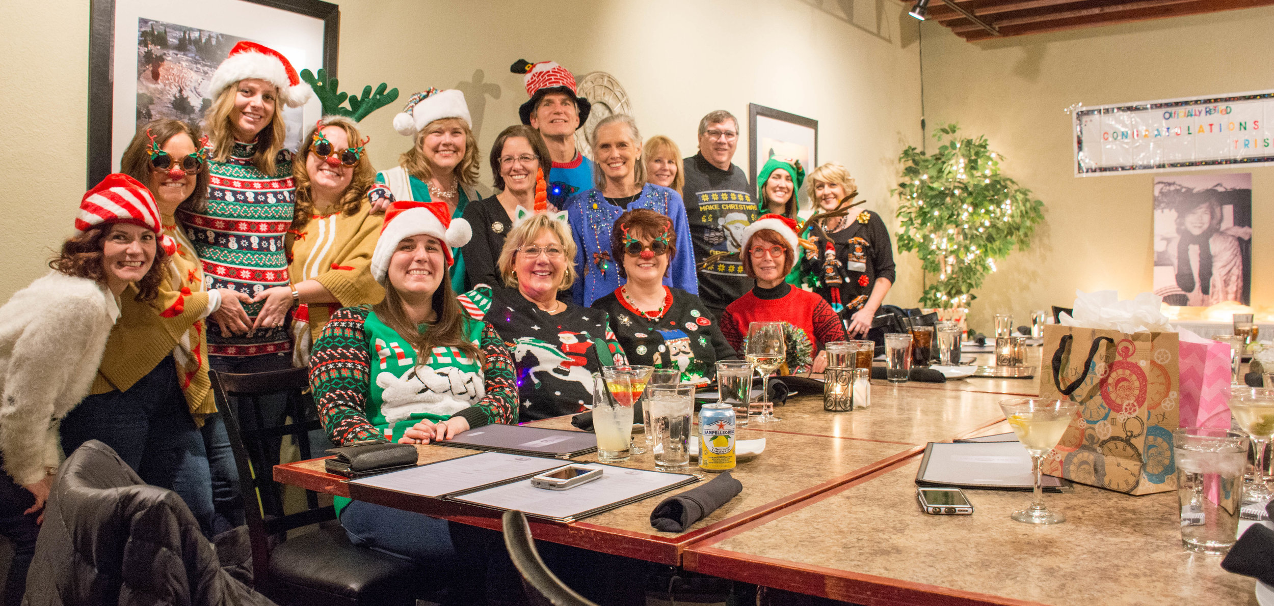 Christmas dinner and retirement celebration for Trish Hamman - Two Tony's, Spring Lake, MI