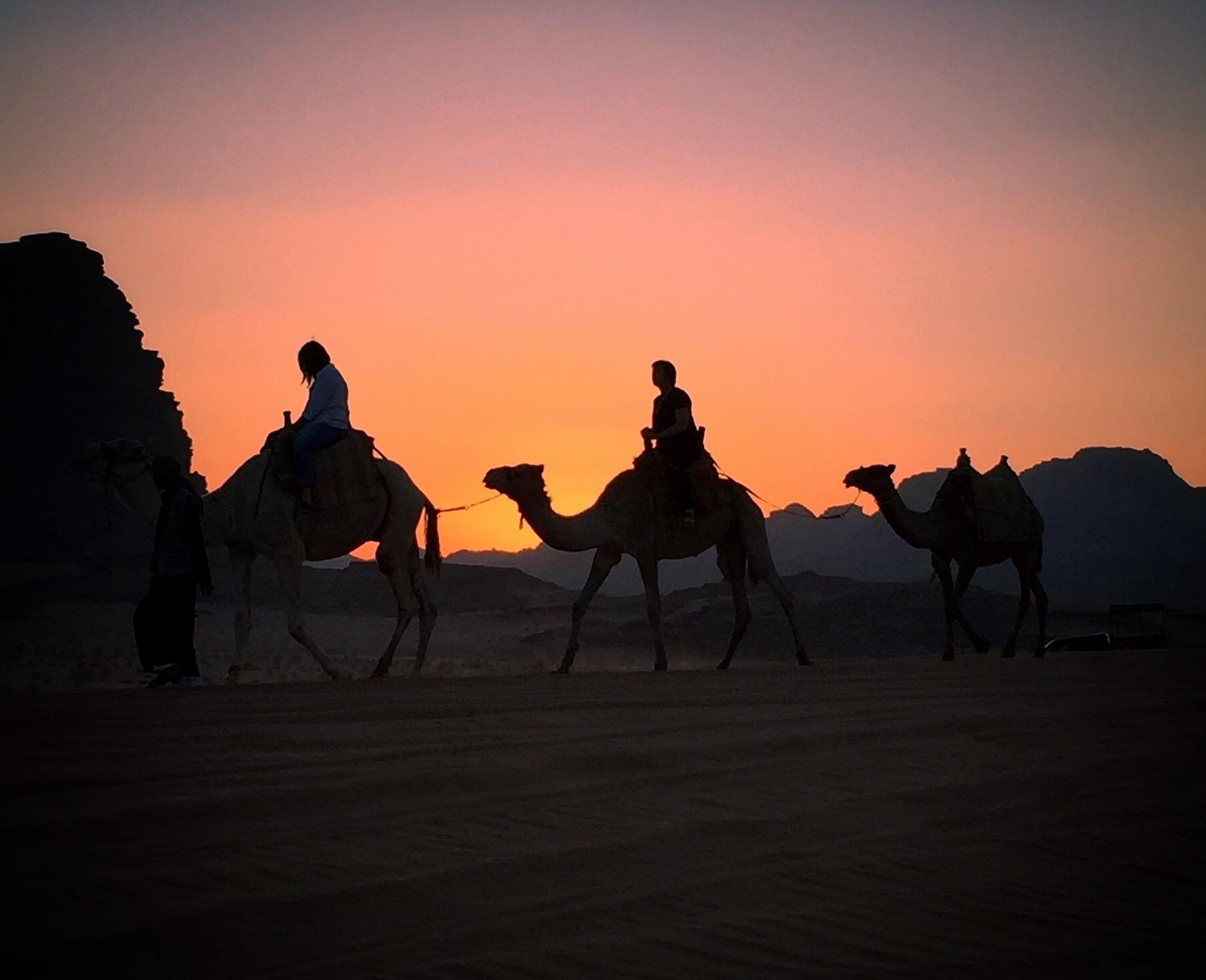 Sunset in Wadi Rum