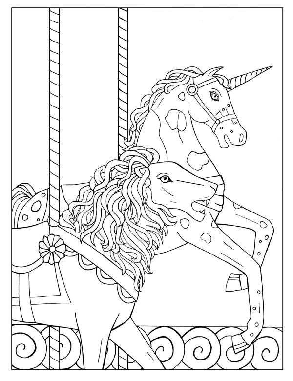 Lion and Unicorn Carousel