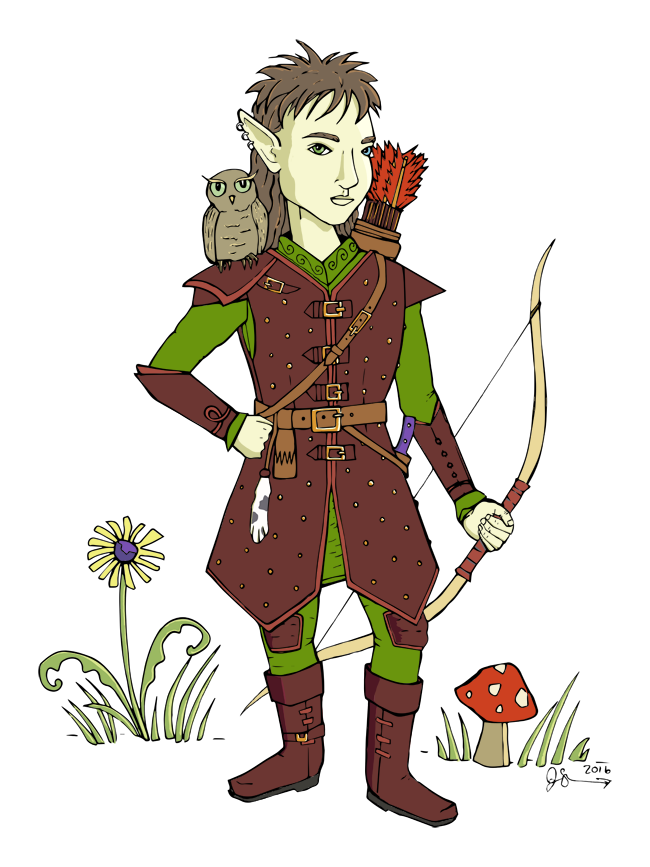 Echo Sparkstone, Gnome Ranger, ready for adventures!