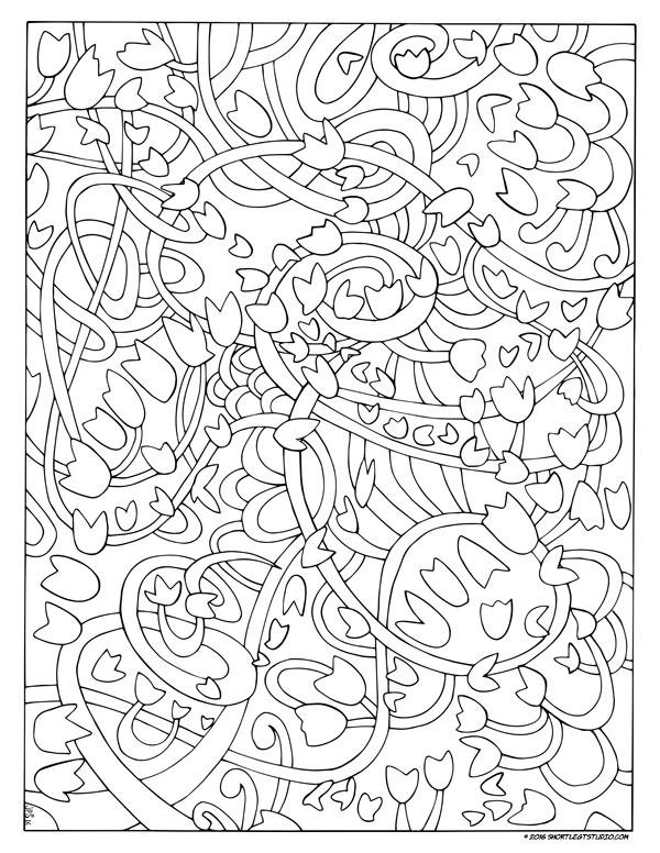 Dancing Wind Coloring Sheet
