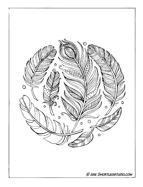 Feather Mandala