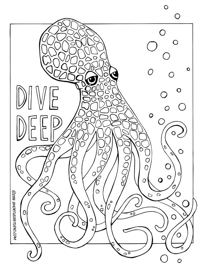 Dive Deep Octopus