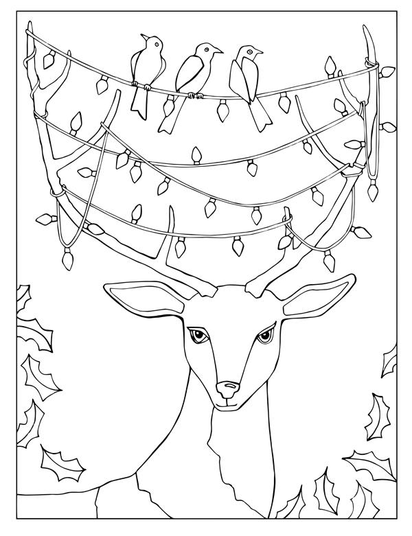 Reindeer with Lights