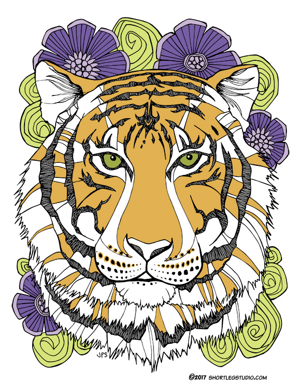 Funky Tiger Illustration