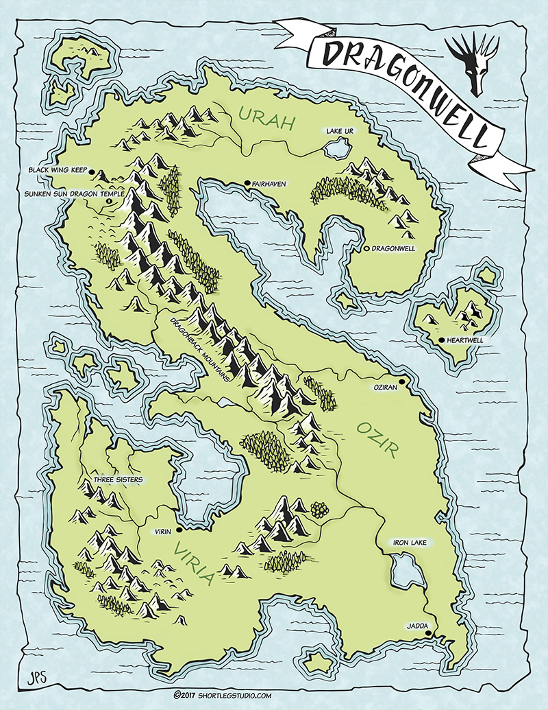 Dragonwell Fantasy World Map