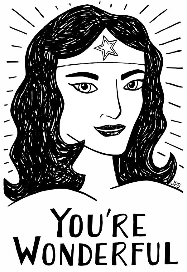 You're Wonderful Print