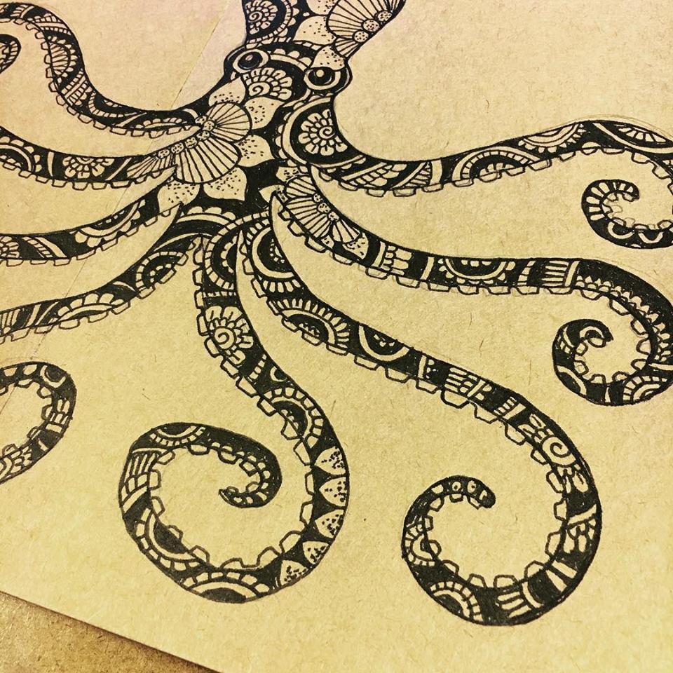 henna octopus sketch
