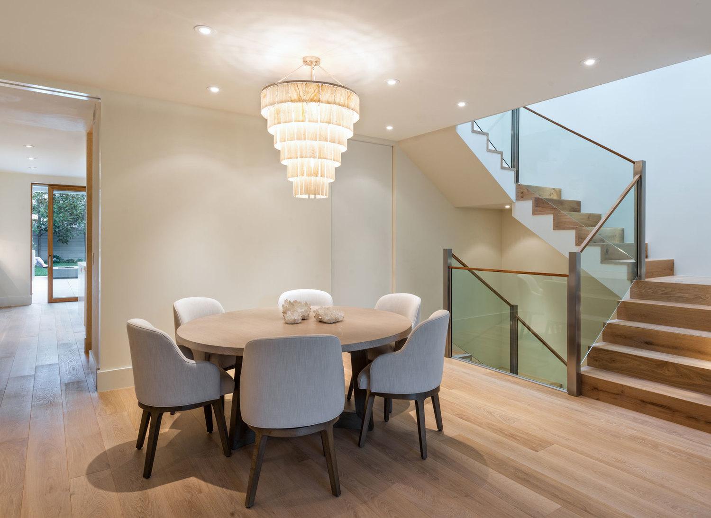 Custom Glass Handrail and Wood Steps