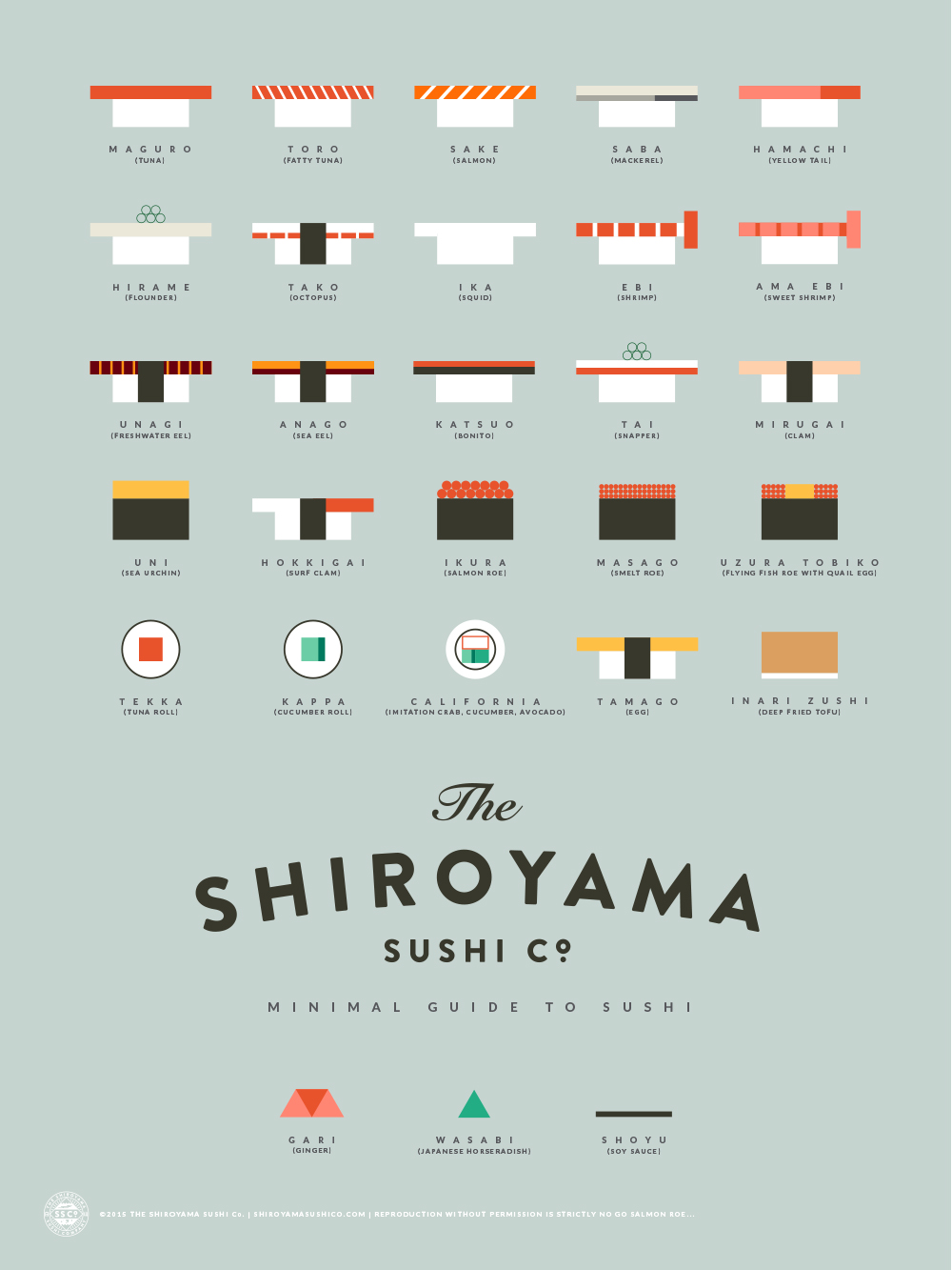 The Shiroyama Sushi Co. -   Minimal Guide To Sushi