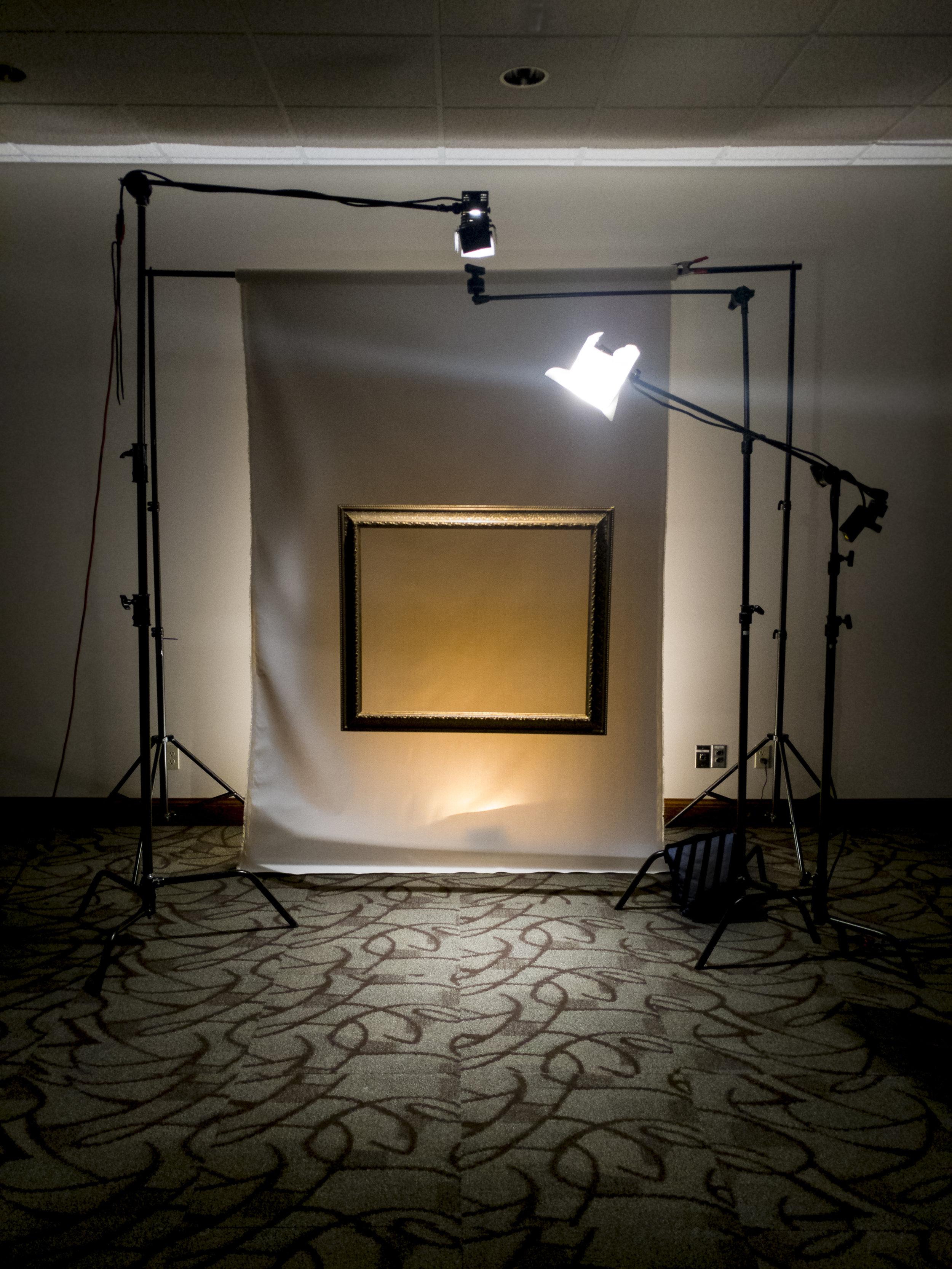 Frame Against Canvas