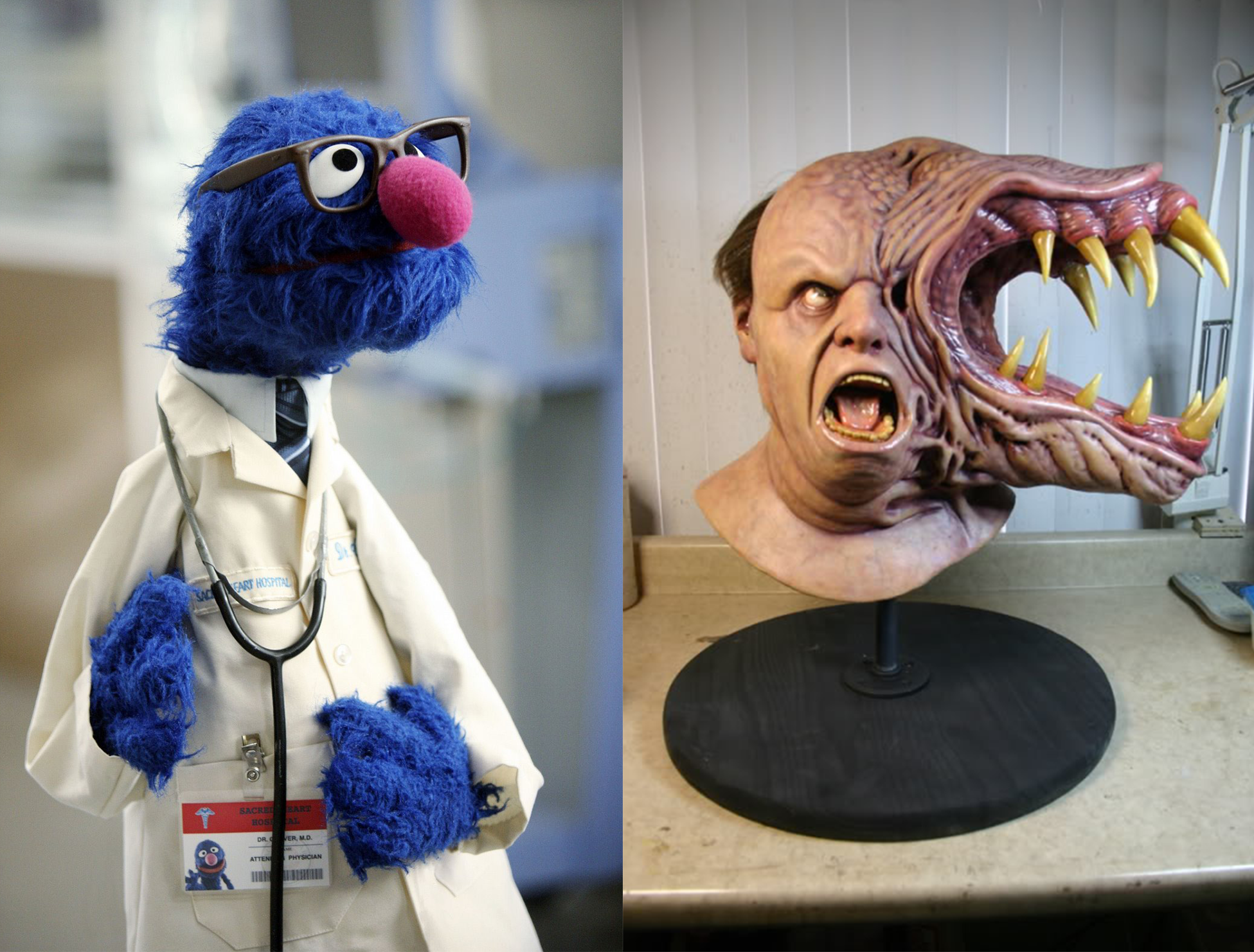 Sources: Grover (Sesame Workshop); The Thing (Universal Pictures, Turman-Foster Company) Model by  Casey Love .
