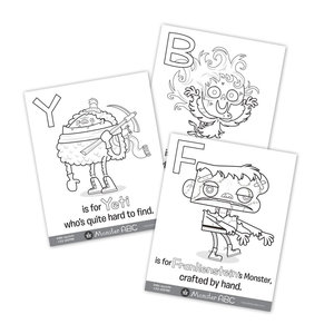 26 Monster ABC Coloring Pages — Hazy Dell Press