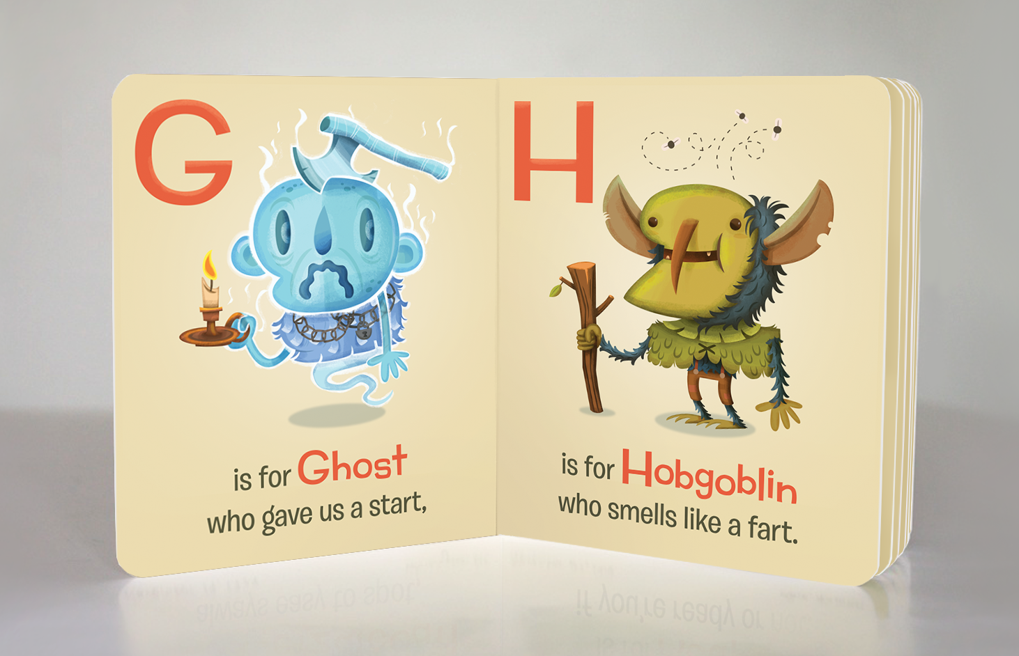 Hobgoblins's first stinky appearance in  Monster ABC . Hazy Dell Press, 2015.