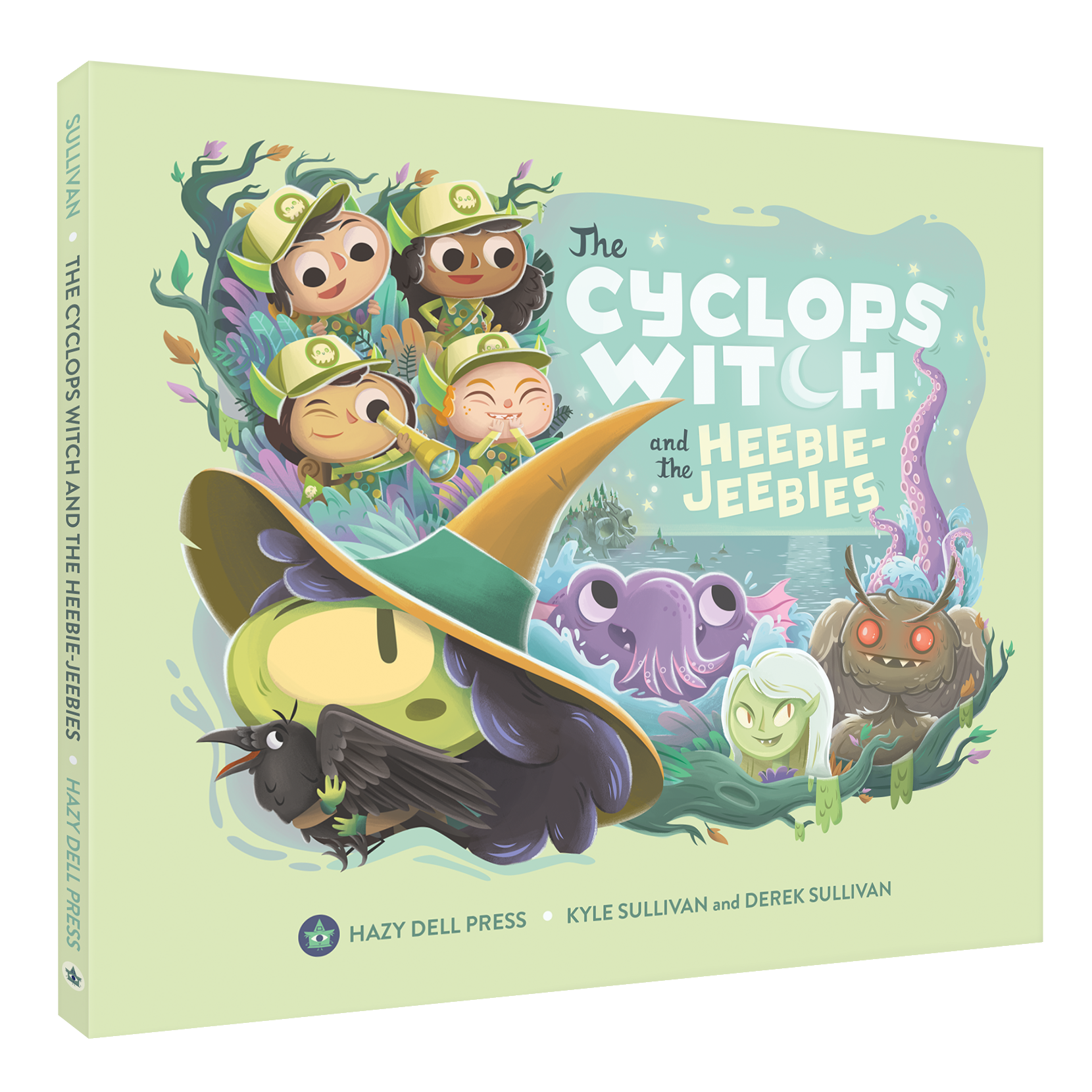 Kyle and Derek Sullivan's picture book  The Cyclops Witch and the Heebie-Jeebies , featuring the Hobgoblin character. Hazy Dell Press, 2019.