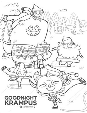 Krampus Christmas Yule Winter Holiday coloring Sheets   Etsy   388x300
