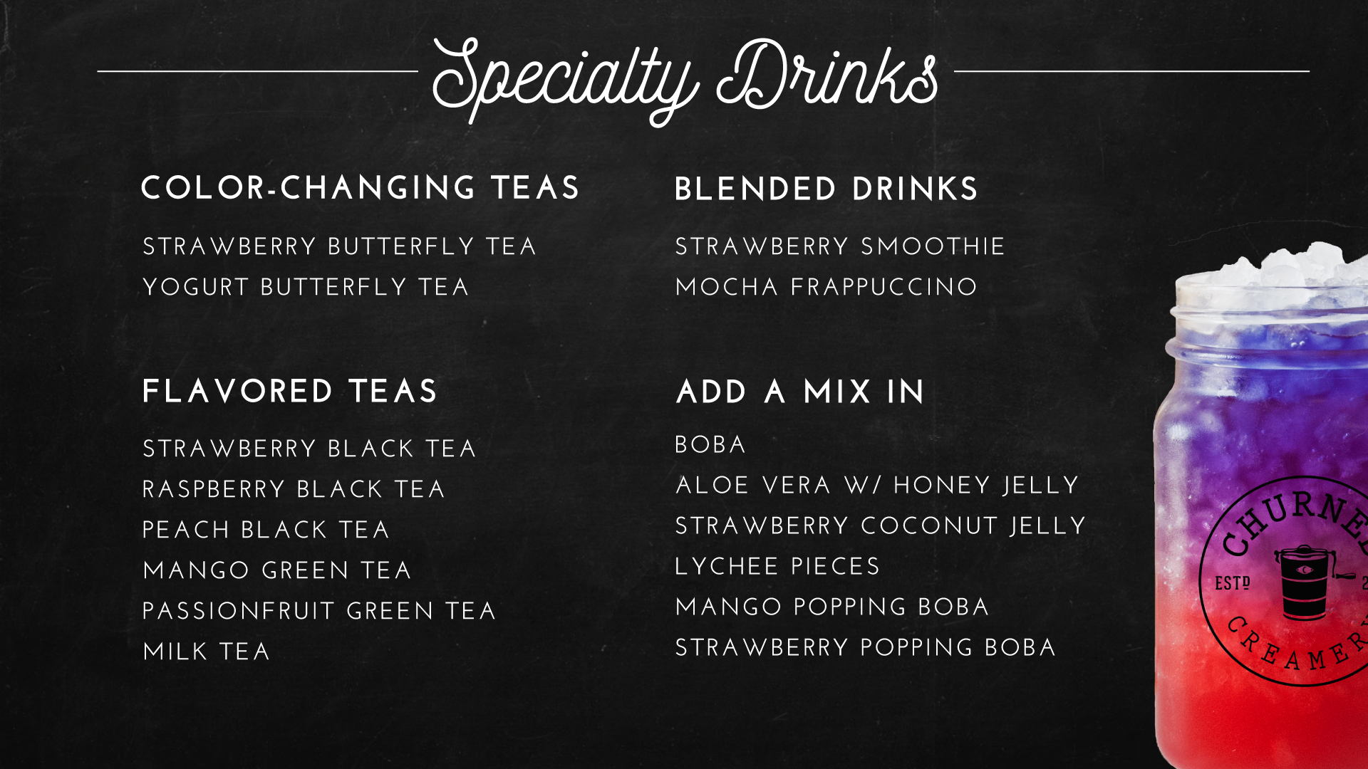 *TEA MENU ONLY AVAILABLE AT OUR MURRIETA & YORBA LINDA LOCATIONS!